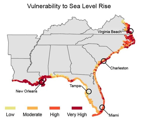 Vulnerability to sea level rise