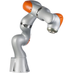 Robot with arm